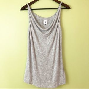 CAbi 3100 Gray Draped Tank Top Size Small